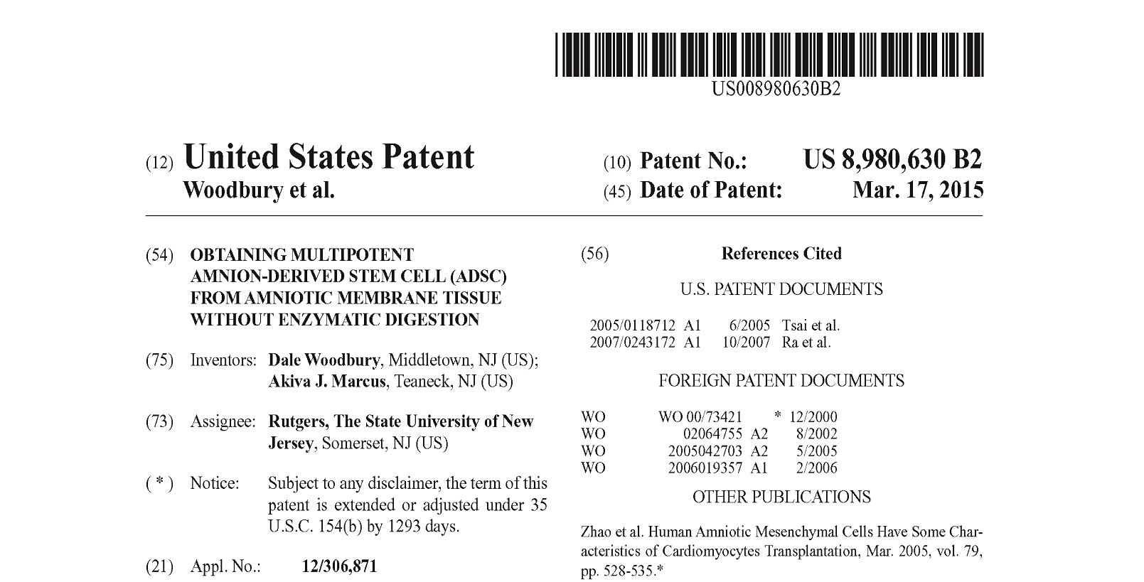 Congratulations To Dr Woodbury And Dr Marcus Amniochors Cso  Congratulations To Dr Woodbury And Dr Marcus Amniochors Cso And Cmo  For Their Patent Being Granted By The Uspto Amniochor Has The Exclusive  License